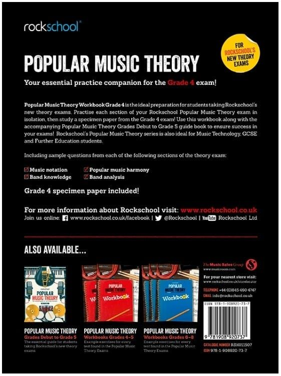 Rockschool Popular Music Theory Workbook - Grade 4