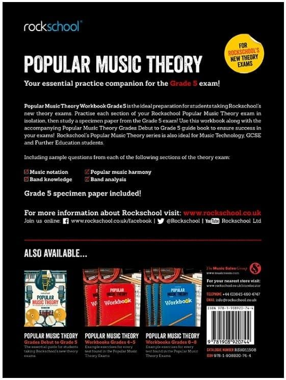 Rockschool Popular Music Theory Workbook - Grade 5