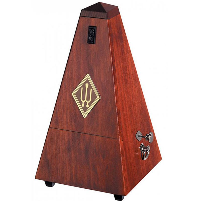 Wittner W811 Wooden Pyramid Metronome with Bell, High Gloss Mahogany Finish