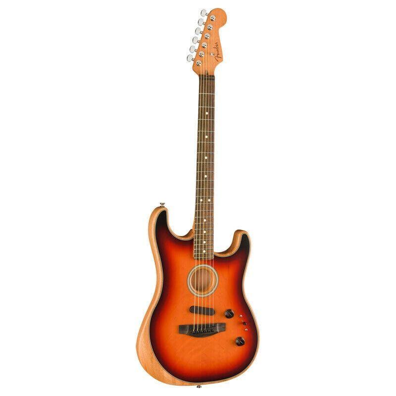 Fender Acoustasonic Strat Acoustic/Electric Guitar In 3-Tone Sunburst
