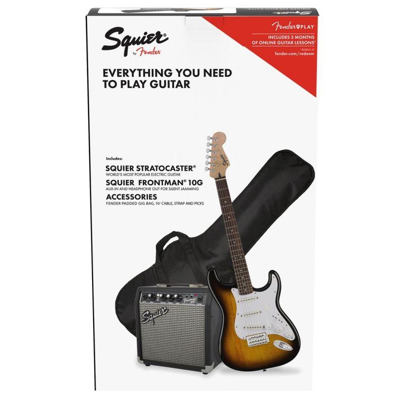 Squier Stratocaster Pack, Laurel Fingerboard, Brown Sunburst, Gig Bag, 10G