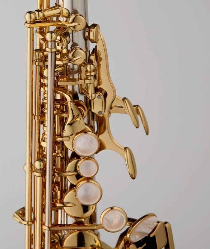 Yanagisawa SCWO37 Curved Soprano Saxophone - Solid Silver Neck Body and Bell