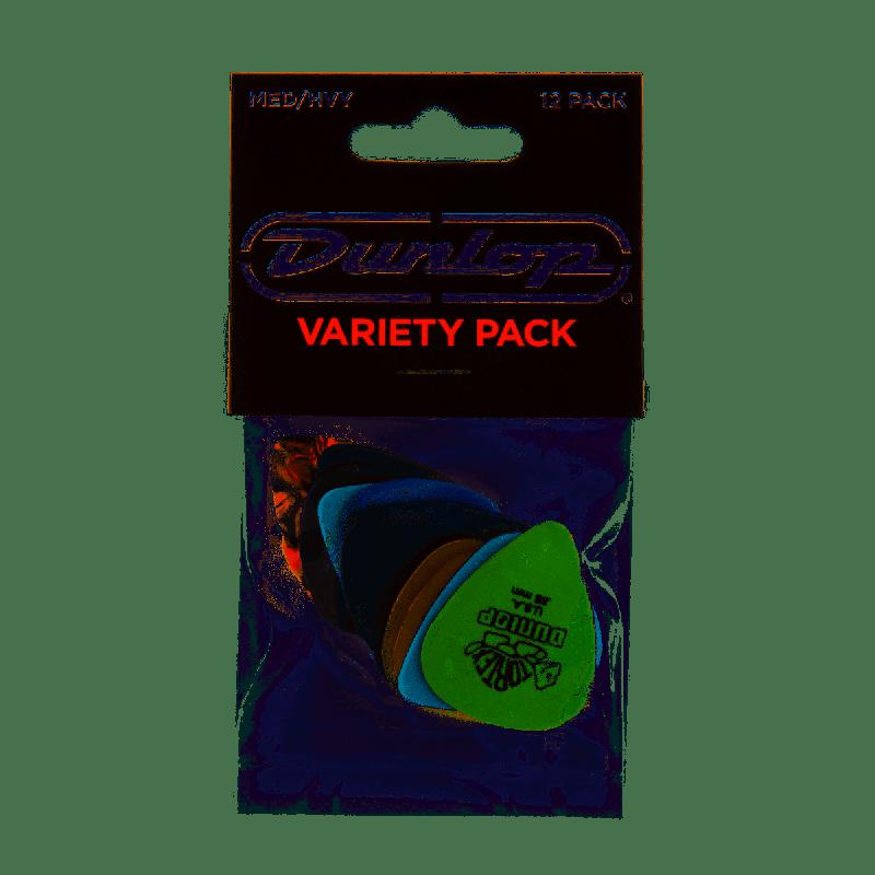 Dunlop Picks Variety Medium Heavy Player Pack 12