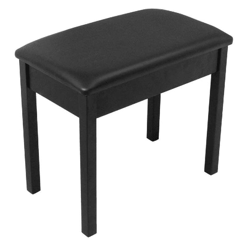 On Stage Piano Stool with Lid, Black