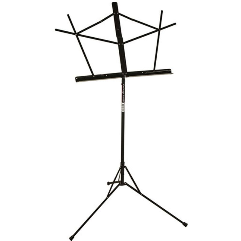 On Stage Compact Sheet Music Stand with Bag, Black
