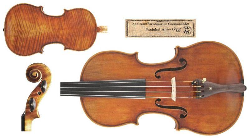 Heritage Series Violin Stradivari Model with Gold Setup
