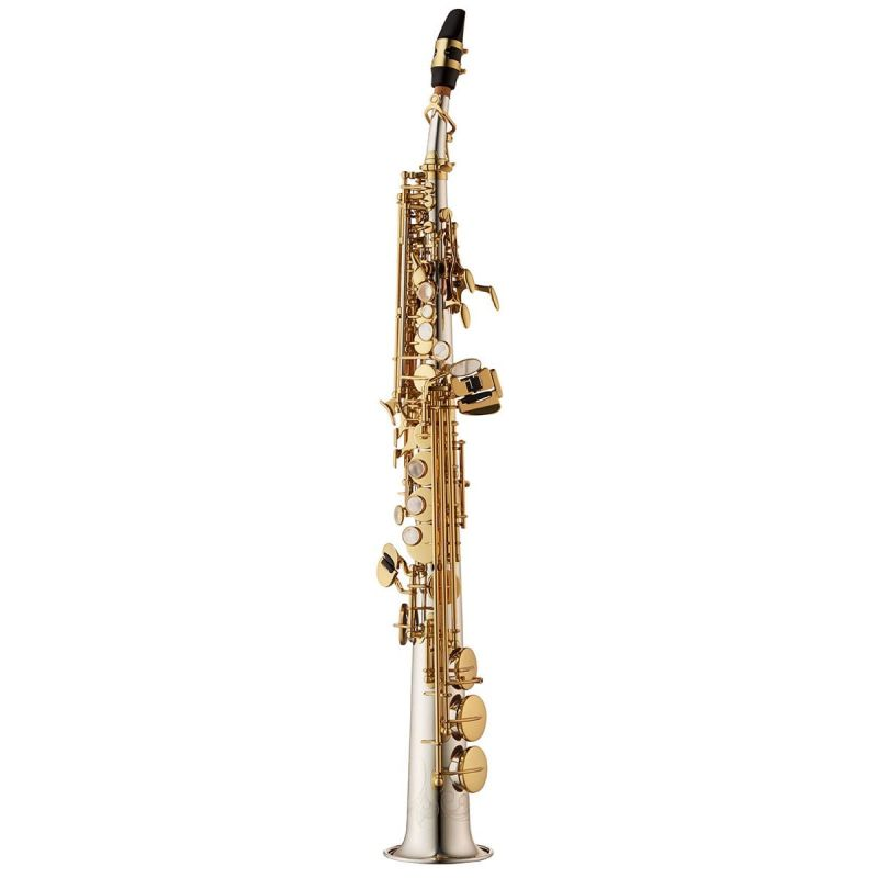 Yanagisawa Soprano Saxophone, Solid silver, clear lacquer, straight and curved neck (SWO37)
