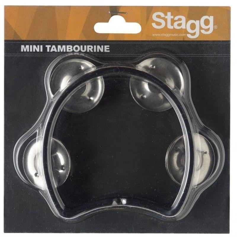 Stagg Cutaway Tambourine 4 Jingles, Black