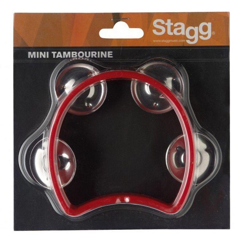 Stagg Cutaway Tambourine 4 Jingles, Red