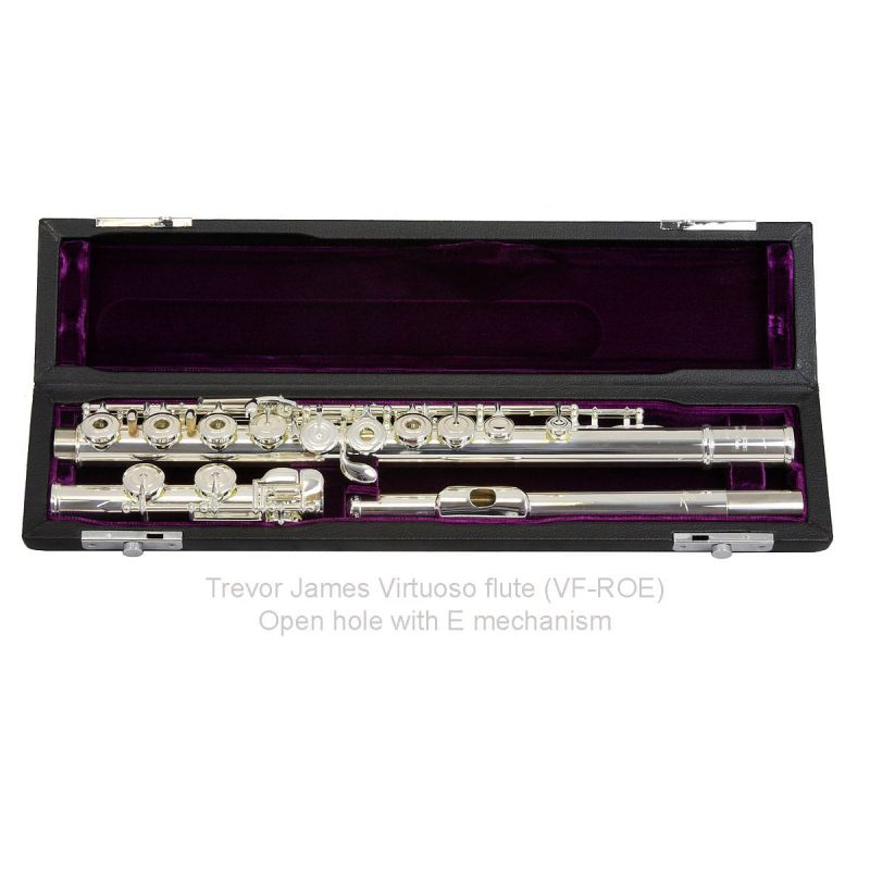Trevor James Virtuoso Flute, Traditional Lip Plate, Open Hole