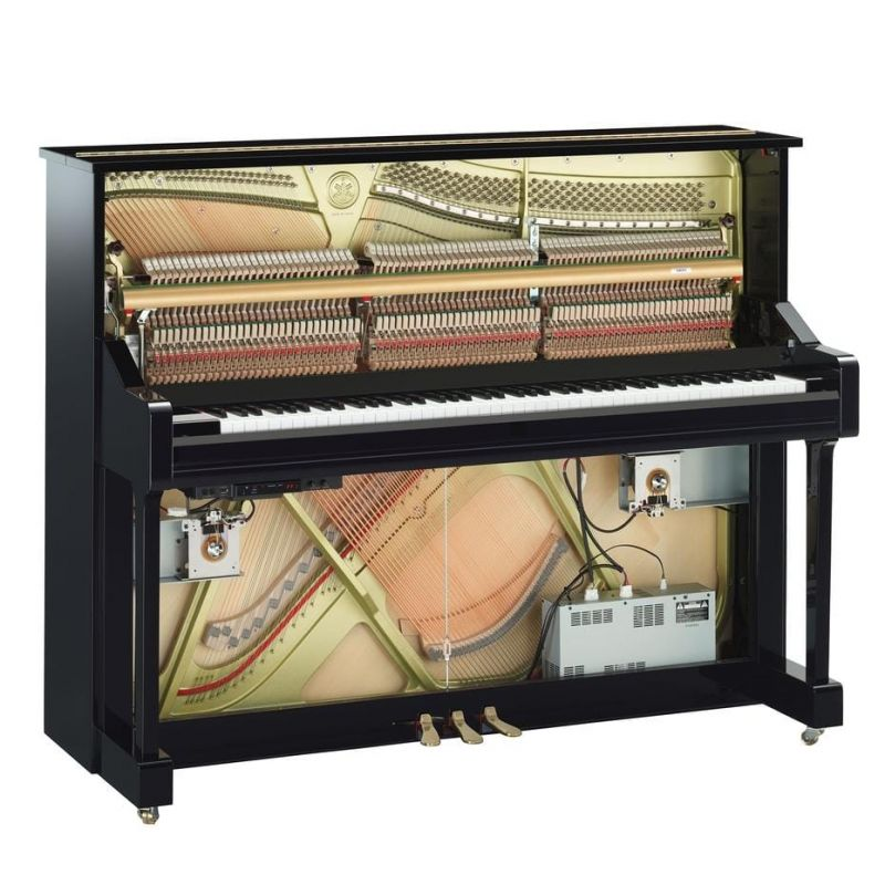 Yamaha U1 Transacoustic TA2 Polished Ebony Silent Piano