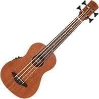 Laka Ukulele Fretted Bass Electro Acoustic Acacia Koa