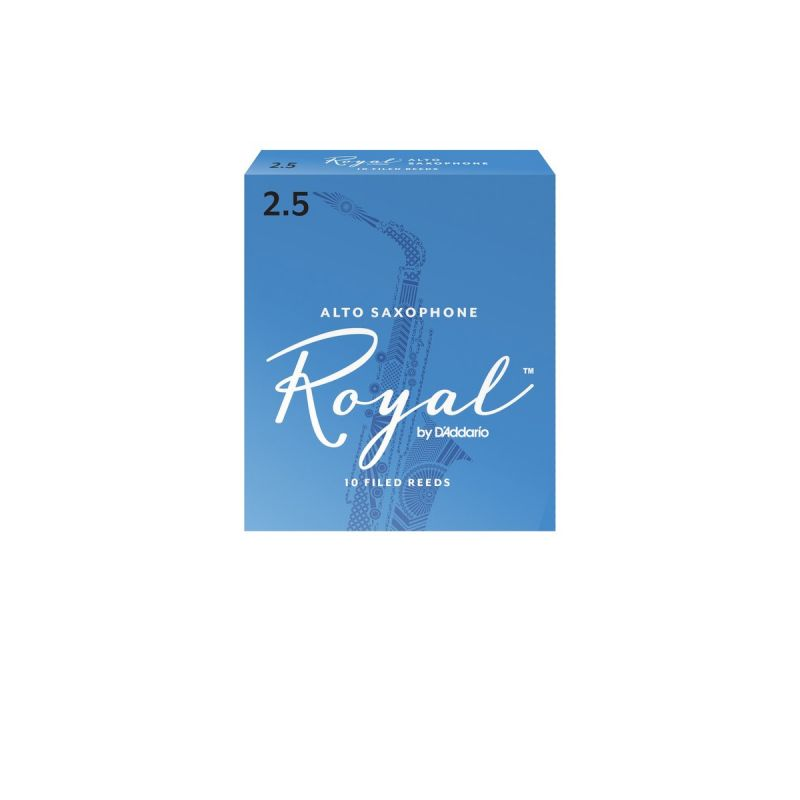 Rico Royal Alto Sax Reeds, Strength 2.5 (10 Pack)