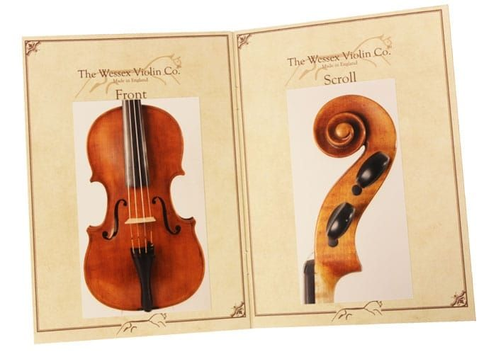 Wessex Violin VI116-4/4 (XV Series) Reddish Brown Set Up
