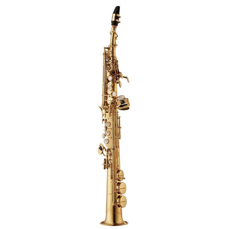 Yanagisawa Soprano Saxophone, Brass, Gold Lacquer, straight and curved neck (SWO10)