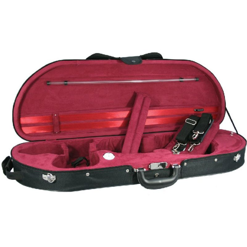 Young D-Shaped Delux Violin case, Red