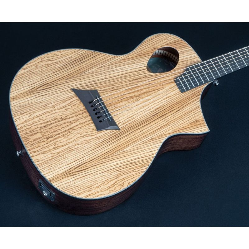 Michael Kelly MKFESZESFX Forte Exotic Electro Acoustic Guitar, Zebrawood
