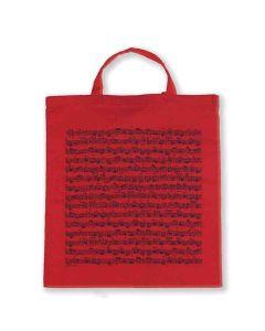 Tote Bag Sheet Music Red