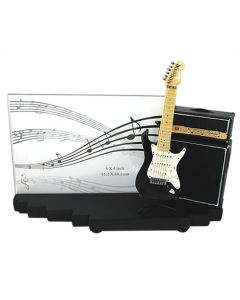 Photo Frame Amp and Guitar Strat