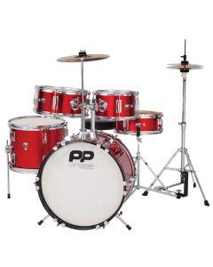 Performance Percussion PP 5 Piece Junior Drum Kit Red