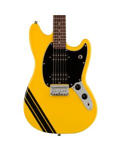 Squier FSR Bullet Competition Mustang HH, Laurel Fingerboard, Graffiti Yellow with Black Stripes