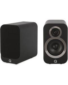 Q Acoustics 3010i Compact Bookshelf Speakers (Pair) Carbon Black