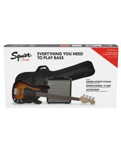 Squier Affinity Series Precision Bass PJ Pack, Laurel Fingerboard, BrownSunburst