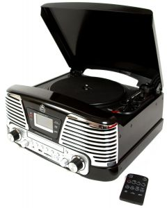 GPO Memphis Retro Music Player Black