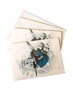 Music Gifts Note Cards - Blue Guitar