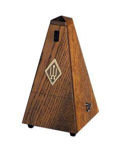 Wittner W818 Wooden Pyramid Metronome with Bell, Matt Brown Oak Finish
