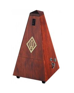 Wittner 1626 Wooden Pyramid Metronome with Bell, Satin Mahogany Finish