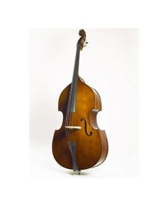 Stentor 1950C Double Bass, Flat Back, Solid Top 3/4 Size, Luthier Set Up