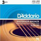 D'Addario Phosphor Bronze Light 3D Set