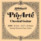 D'Addario Pro-Arte Nylon Classical Guitar Single String, Normal Tension, Second String