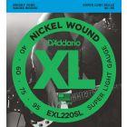 D'Addario XL Nickel Wound Bass 040-095 Long