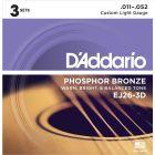 D'Addario Phosphor Bronze Custom Light 3D Set