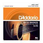 D'Addario 80 20 Bronze Extra Light