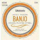 D'Addario Irish Tenor Banjo Strings, Nickel, 9-30