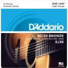D'Addario 80 20 Bronze 12 String Light