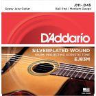 D'addario EJ83M Gypsy Jazz, Ball End, Medium, 11-45