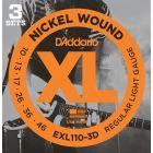 D'Addario XL Regular Light 3D Set