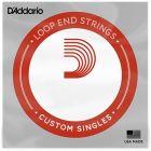 D'Addario Nickel Wound Loop End Single String, .038