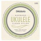 D'Addario Pro-Arte Custom Extruded Nylon Ukulele Strings, Soprano
