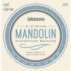 D'Addario Mandolin Strings, Phosphor Bronze, Light, 10-38